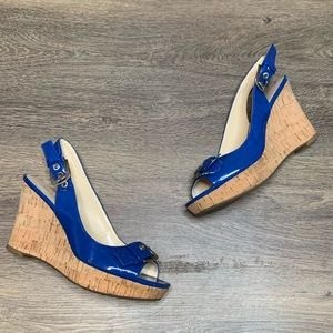 Franco Sarto Carnival Wedges Denim Blue